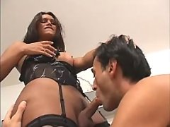 Exotic ts gives guy wild blowjob