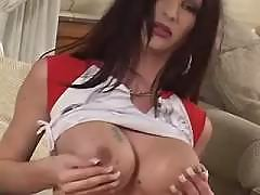 Longhaired TS with killer body solo