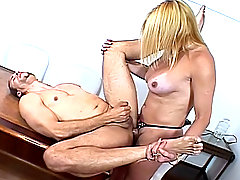 Transsexual Getting Drilled