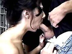 Lustful shemales seduce policeman