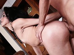 A well hung tranny babe gets sucked and anally fisted here  , Raw Tranny Fisting