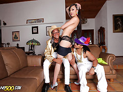Watch the lovely Venus Lux get her tranny ass fucked now!