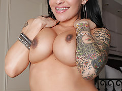 Foxxy will show any stud a great time, with that sexy tattooed body of hers!