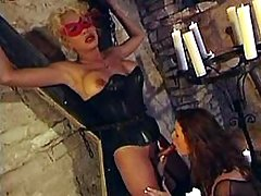 Kinky tranny gangbang with masks