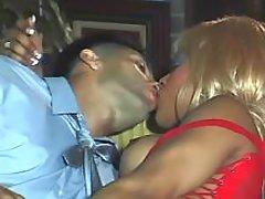 Lewd ebony TS seducing guy in oriel