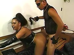 Tranny gets cum in mouth after fuck