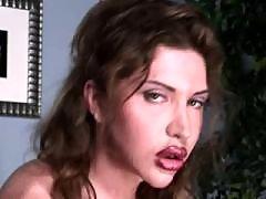 Pretty shemale in porn video