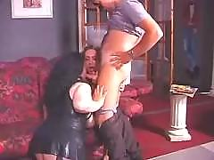 Two transsexuals blows dick in orgy