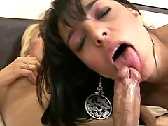 Playful shemale doll loves to taste rods